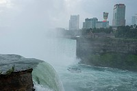 A view of Niagra Falls, Ontario from Niagra Falls, New York.
