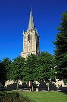 D-Wesel, Rhine, Lower Rhine, North Rhine-Westphalia, NRW, Willibrordi Cathedral, basilica, evangelic church, Late Gothic, church tower