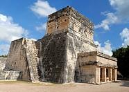 The temple of Jaguares Chichen Itza Yucatan Mexico