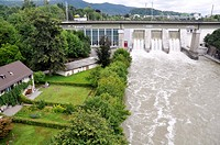 Baden (Argovia, Switzerland): dam in the outskirts of the city
