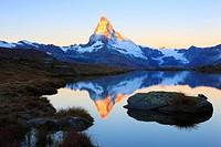 Alps, Alpine panorama, view, mountains, mountain panorama, mountain lake, peak, cliff, rock, mountains, summit, peak, autumn, scenery, Matterhorn, Mat...
