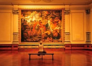 woman, sitting, Meeting of Abraham and Melchizedek, painting, 1625, Peter Paul Rubens Gallery, John and Mable Ringling Museum of Art, Sarasota, Florid...