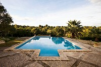 Swimming pool and Mediterranean landscape