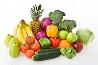 Variety of fresh fruits and vegetables (thumbnail)