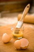 Egg shells and pastry brush (thumbnail)