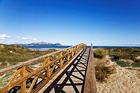 Wood footbridge near Mediterranean Coast