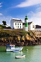 Lighthouse on Rive Gauche, Doelan, Finistere, Brittany, France, Europe
