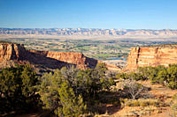 Monument Canyon and Grand Valley of the Colorado River, Colorado National Monument, Colorado, USA