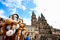 Traditional stick with shell in Santiago de Compostela