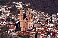 View to Santa Prisca church, Guerrero state, Mexico, North America, Latin America