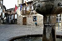 Town Hall Square in the village of La Vera, Spain