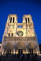 France, Paris, Cathédrale Notre-Dame cathedral,