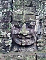 Heads in Bayon temple, Angkor Thom  Angkor temples, Cambodia, Asia