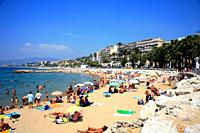 Beach at Cannes, Cote d'Azur, Provence, France