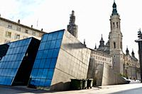 Pilar square in Zaragoza, Spain