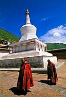 Buddhist Monk  Labrang Monastery  Xiahe  Tibet  China.