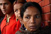Women from the Badi community queuing for a medical checkup near the Pashupatinath temple Representatives from the community were in the capital city ...