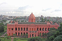 Ahsan Manzil, at Kumartoli, in Dhaka, on the banks of the Buriganga River Built in the mid 1800s, it was the residential palace and the kachari of the...
