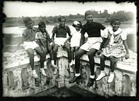 A group of playful children, in Midnapore, a town in West Bengal, India 1926 Contribution of Golam Kasem Daddy, 1894 – 1998, the earliest photographer...