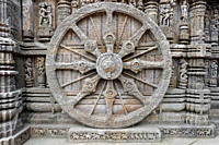 Stone images on the wall of Konark Temple, in Orissa, India February 23, 2010 This world heritage site temple was built in the 13th century by King Na...