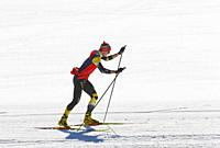 Man at cross-country skiing