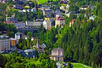 Bad Gastein in the Gastein valley and Hohe Tauern range
