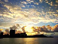 Sunrise over Waikiki, Honolulu