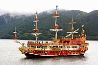 Hakone Sightseeing Cruise, Lake Ashi, Hakone, Kanagawa, Japan.