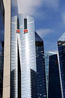 Towers of Société Générale one of the leading financial services companies in Europe, La Defense business district, Paris, France