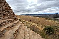 Ruins of Chicomostoc circa 300-1200, La Quemada, state Zcatecas, Mexico
