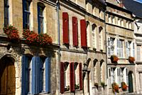 France, Lorraine, Meuse, Bar le Duc - Old facades in the old town
