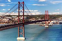 25th of April Suspension Bridge in Lisbon, Portugal