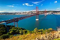 25th of April Suspension Bridge in Lisbon, Portugal