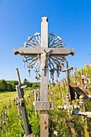 Kriziu kalnas, The Hill of Crosses, a site of pilgrimage, 12 km north of the city of Siauliai, Lithuania