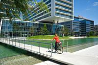 Modern office Buildings, Viertel Zwei, Leopoldstadt, Vienna, Austria