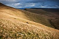 view towards Cribyn from near Pen Y Fan, Brecon Beacons national park, Wales