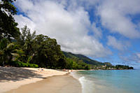 Meridien Fisherman's Cove Hotel and Beau Vallon beach, Mahe, Seychelles, Indian Ocean