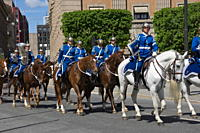 Mounted Military Band, Stockholm, Sweden, Scandinavia, Europe