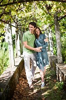 Couple going for a walk in nature