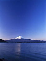 Mount Fuji from Lake Kawaguchi_ko, Yamanashi Prefecture, Japan, Asia