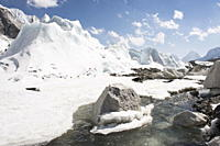 Khumbu glacier, Solu Khumbu Everest Region, Sagarmatha National Park, Himalayas, Nepal, Asia