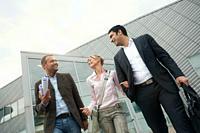 Business team walking outdoors