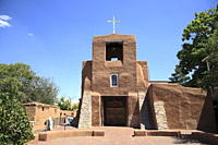 San Miguel Mission Church, oldest church in the United States, Santa Fe, New Mexico, United States of America, North America