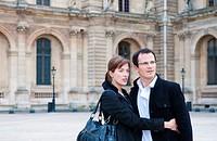 Couple at the Louvre Paris
