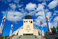 England, Merseyside, Liverpool. The exterior of Liverpool´s Roman Catholic Metropolitan Cathedral dedicated to Christ the King.