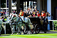 England, Berkshire, Ascot. The Royal procession entering the parade ring during day two of Royal Ascot 2010.