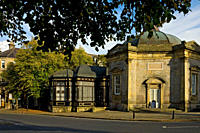 England, North Yorkshire, Harrogate. Royal Pump Room Museum housed in an octagonal building built in 1842 by Isaac Shutt. The museum tells the story o...