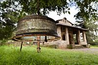 Debre Berhan Selassie Church in Gonder  Bell made from a rim of a truck  Debre Berhan Selassie Church is considered to be the most beautiful example o...