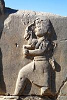 Bas relief of a man bringing gifts to the Persian king, Persepolis, Iran