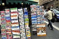 Kiosk books. Rome, Italy.
